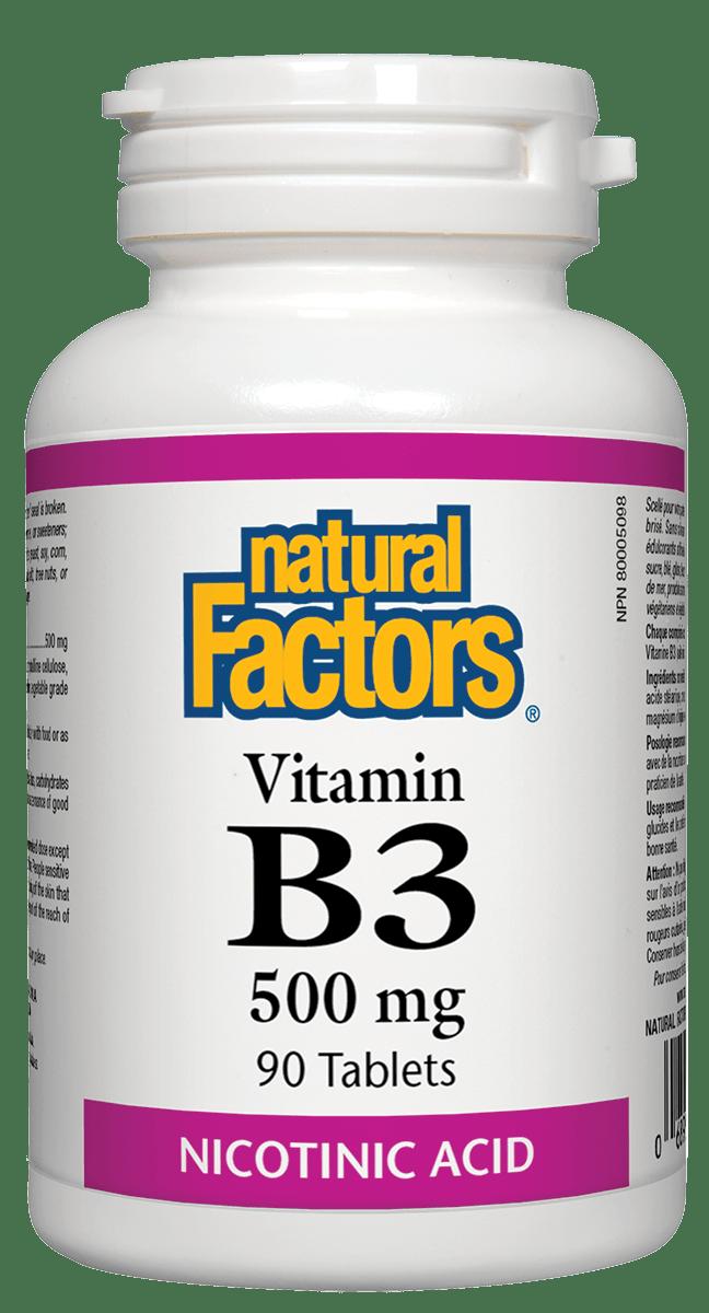Natural Factors Natural Factors - Vitamin B3 500mg - 90 Tabs