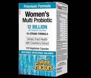 Natural Factors - Women's Multi Probiotic w/ CranRich 12 Billion - 120 Caps