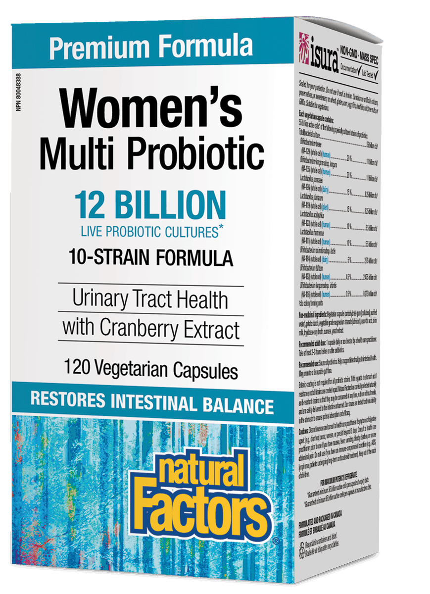 Natural Factors Natural Factors - Women's Multi Probiotic w/ CranRich 12 Billion - 120 Caps