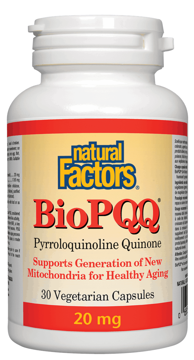 Natural Factors Natural Factors - Bio PQQ 20 mg - 30 V-Caps
