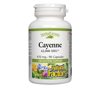 Natural Factors - Cayenne 42,000 SHU 470mg - 90 Caps