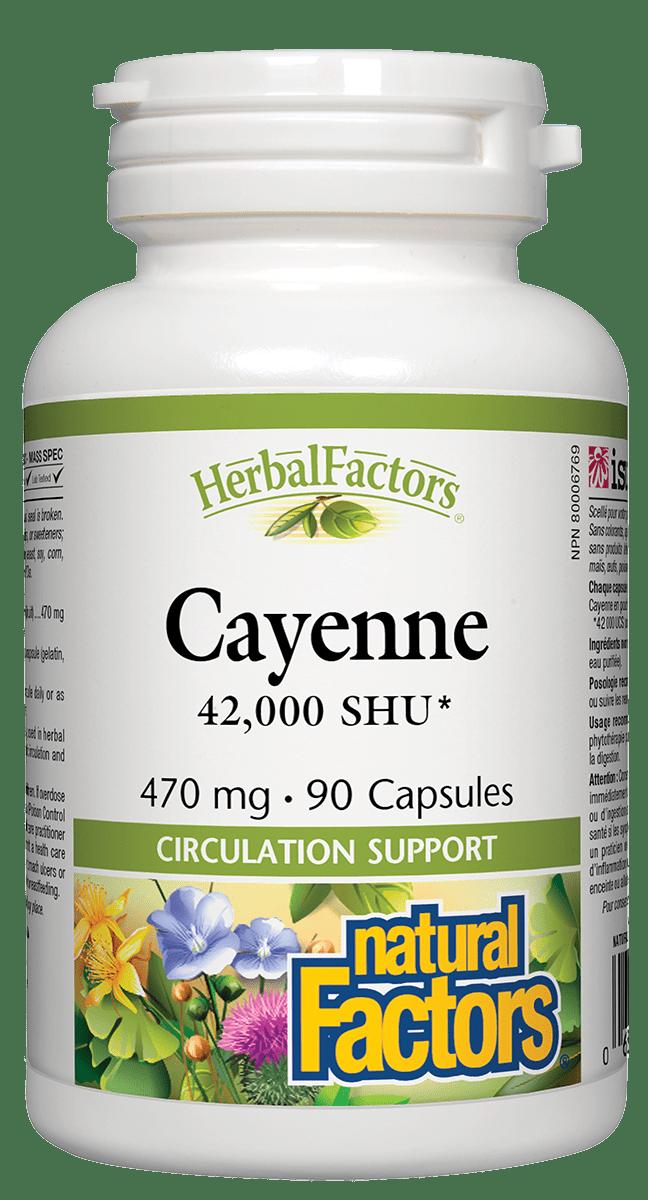 Natural Factors Natural Factors - Cayenne 42,000 SHU 470mg - 90 Caps