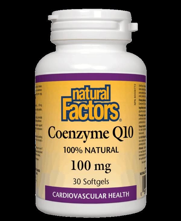 Natural Factors - Coenzyme Q10 100 mg - 30 SG
