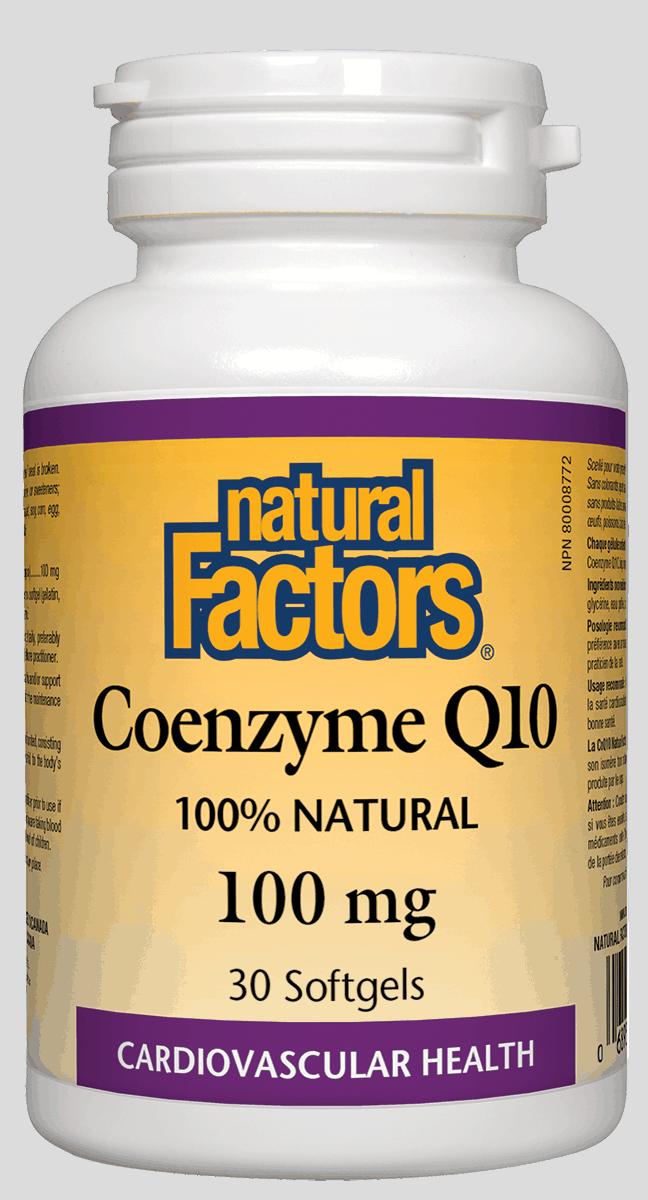 Natural Factors Natural Factors - Coenzyme Q10 100 mg - 30 SG