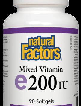Natural Factors Natural Factors - Vitamin E - Mixed 200 IU - 90 SG