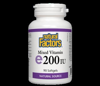 Natural Factors - Vitamin E - Mixed 200 IU - 90 SG