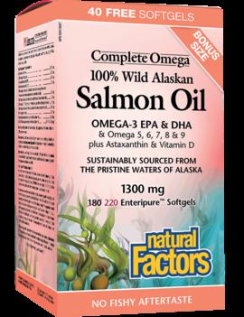 Natural Factors Natural Factors - Complete Omega - Salmon Oil 1300 mg - 220 SG Bonus Size
