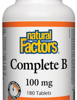 Natural Factors Natural Factors - Complete B Time Release 100mg - 180 Tabs