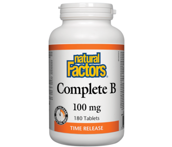 Natural Factors - Complete B Time Release 100mg - 180 Tabs