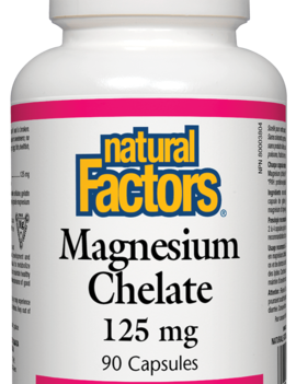 Natural Factors Natural Factors - Magnesium Chelate 125 mg - 90 Caps