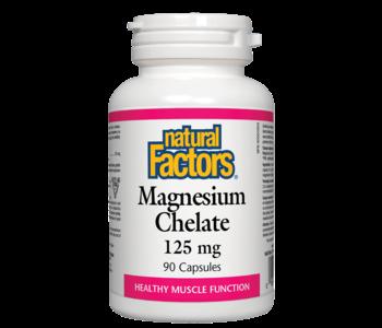 Natural Factors - Magnesium Chelate 125 mg - 90 Caps