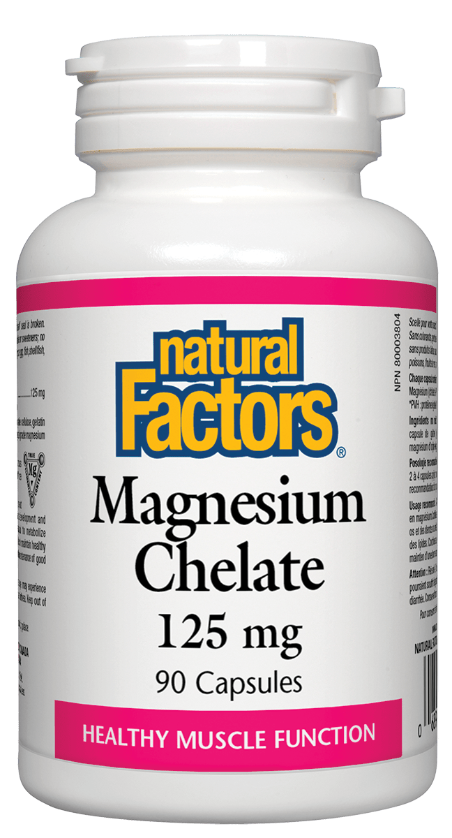 Natural Factors Natural Factors - Magnesium Chelate 125 mg - 90 Caps