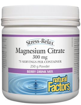 Natural Factors Natural Factors - Stress-Relax - Magnesium Citrate - Berry - 250g