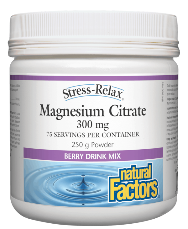Natural Factors - Stress-Relax - Magnesium Citrate - Berry - 250g