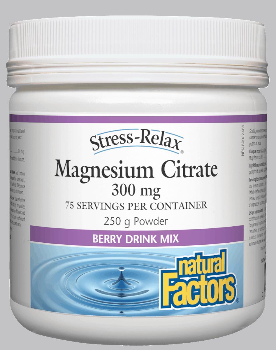 Natural Factors Natural Factors - Stress-Relax - Magnesium Citrate - Berry - 250g