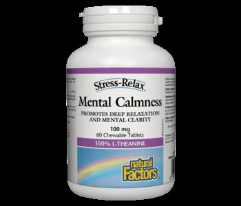 Natural Factors - Mental Calmness 100mg - 60 Chewable Tabs