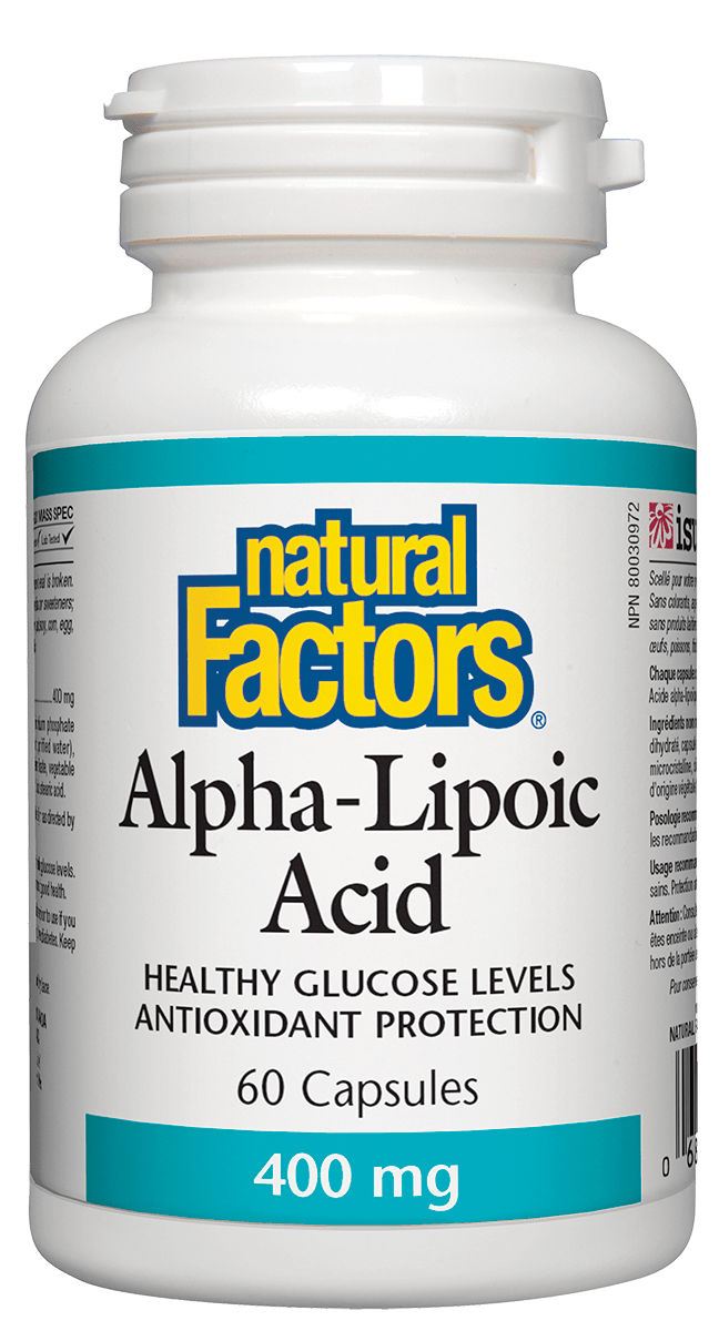 Natural Factors Natural Factors - Alpha-Lipoic Acid 400 mg - 60 Caps