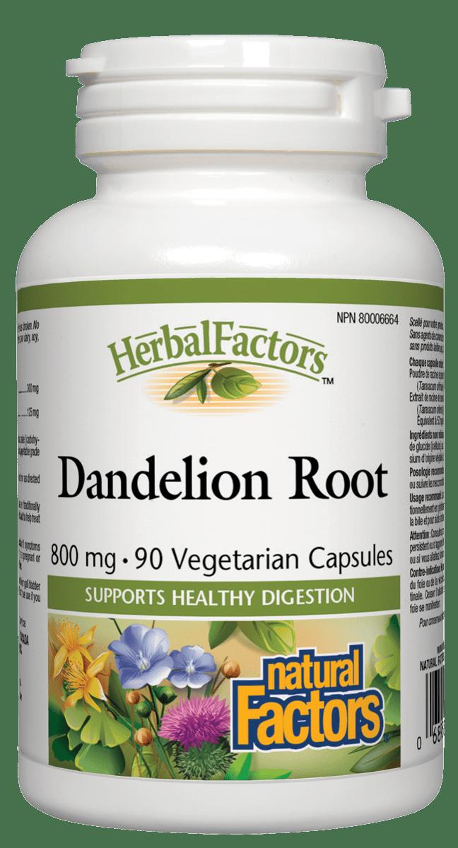 Natural Factors Natural Factors - Dandelion Root Standardized Extract - 90 Caps