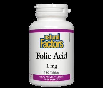 Natural Factors - Folic Acid 1 mg - 180 Tabs