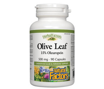 Natural Factors - Olive Leaf - 90 Caps