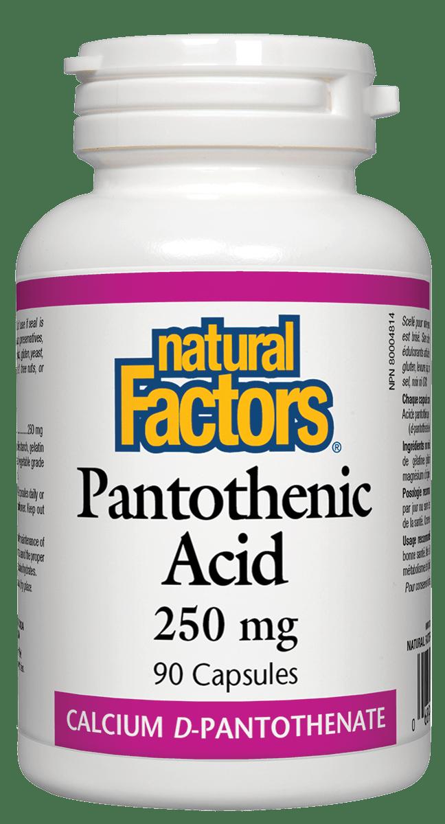 Natural Factors Natural Factors - Pantothenic Acid 250 mg - 90 Caps