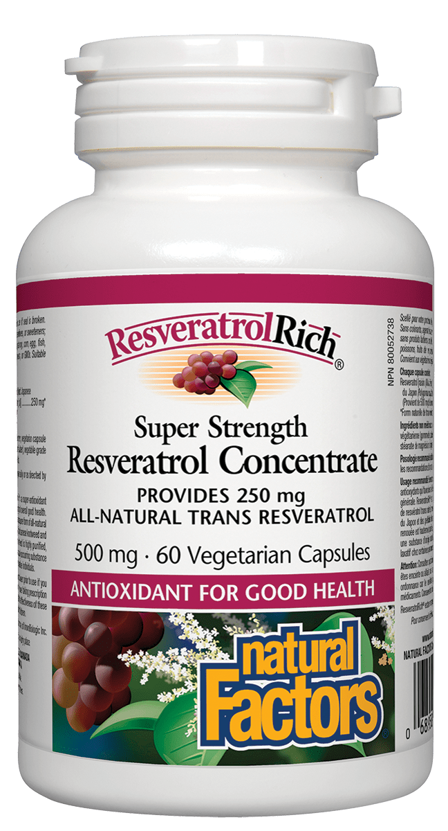 Natural Factors Natural Factors - Resveratrol Concentrate 500 mg - 60 V-Caps