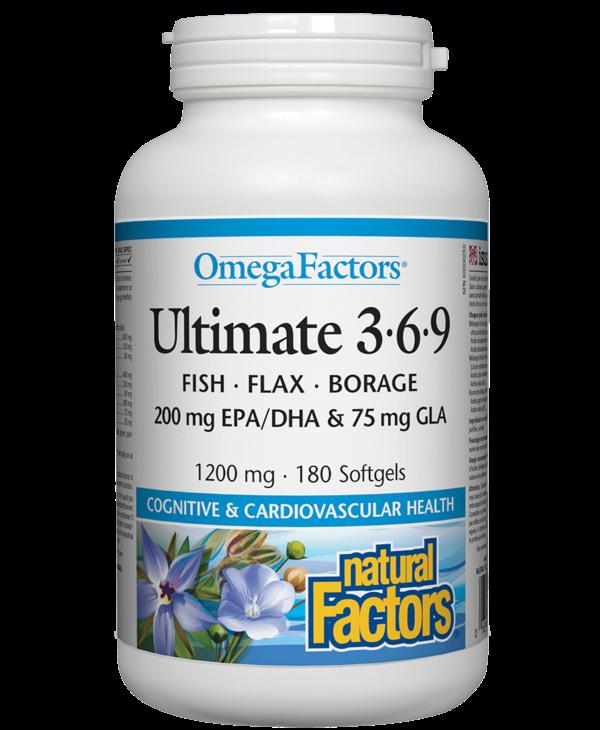Natural Factors - Ultimate 3.6.9 - 180 SG
