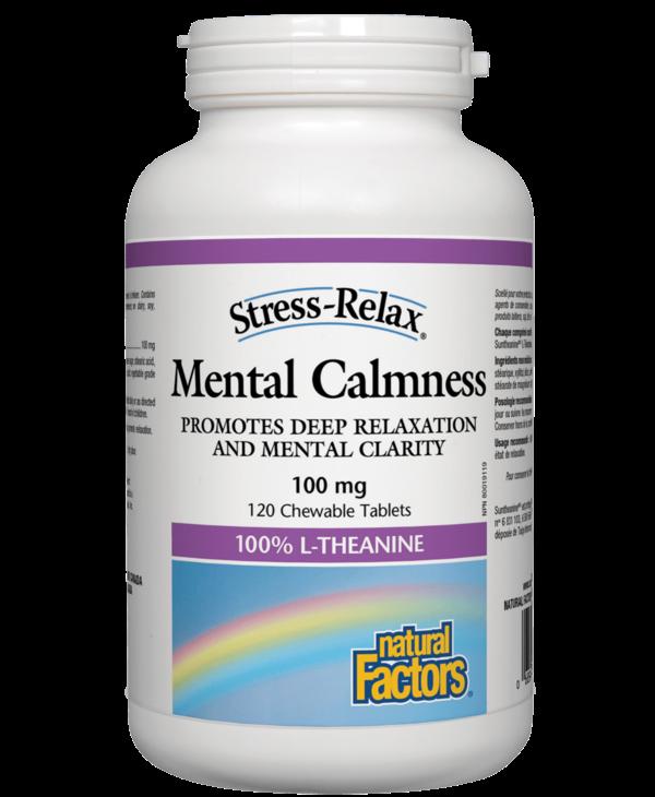 Natural Factors - Mental Calmness 100mg - 120 Chewable Tabs