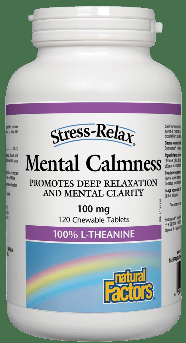 Natural Factors Natural Factors - Mental Calmness 100mg - 120 Chewable Tabs