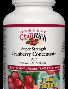 Natural Factors Natural Factors - Organic CranRich - Cranberry Concentrate Super Strenght - Organic - 90 SG