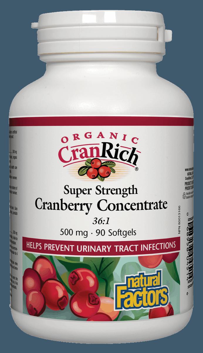 Natural Factors Natural Factors - Organic CranRich - Cranberry Concentrate Super Strenght - 90 SG