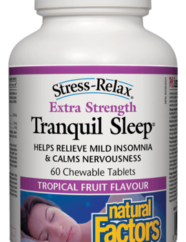 Natural Factors Natural Factors - Tranquil Sleep - Extra Strength - Tropical Fruit - 60 Chews