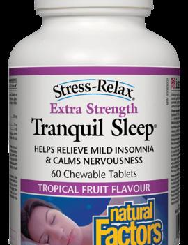 Natural Factors Natural Factors - Tranquil Sleep - Extra Strength - Tropical Fruit - 60 Chews
