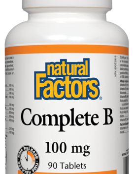 Natural Factors Natural Factors - Complete B Time Release 100mg - 90 Tabs