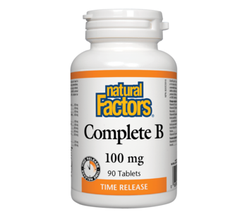 Natural Factors - Complete B Time Release 100mg - 90 Tabs