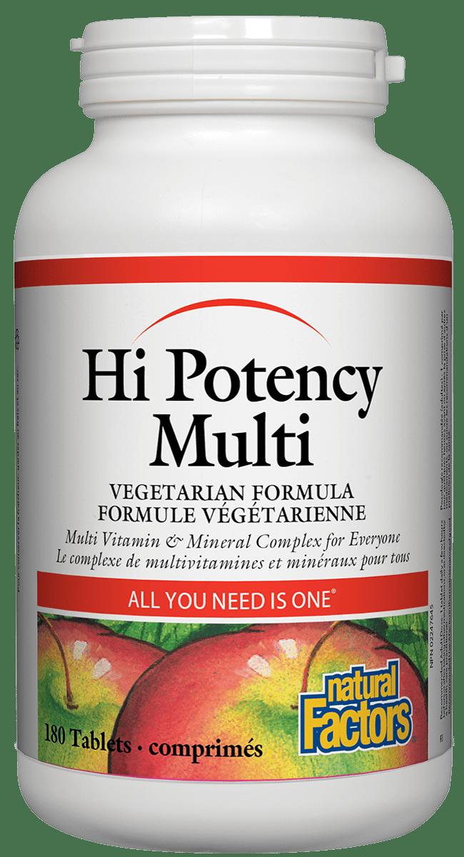 Natural Factors Natural Factors - Hi Potency Multi Vegetarian Formula - 180 Tabs