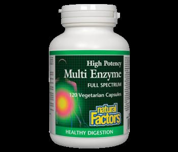 Natural Factors - Multi Enzyme Full Spectrum High Potency - 120 Caps