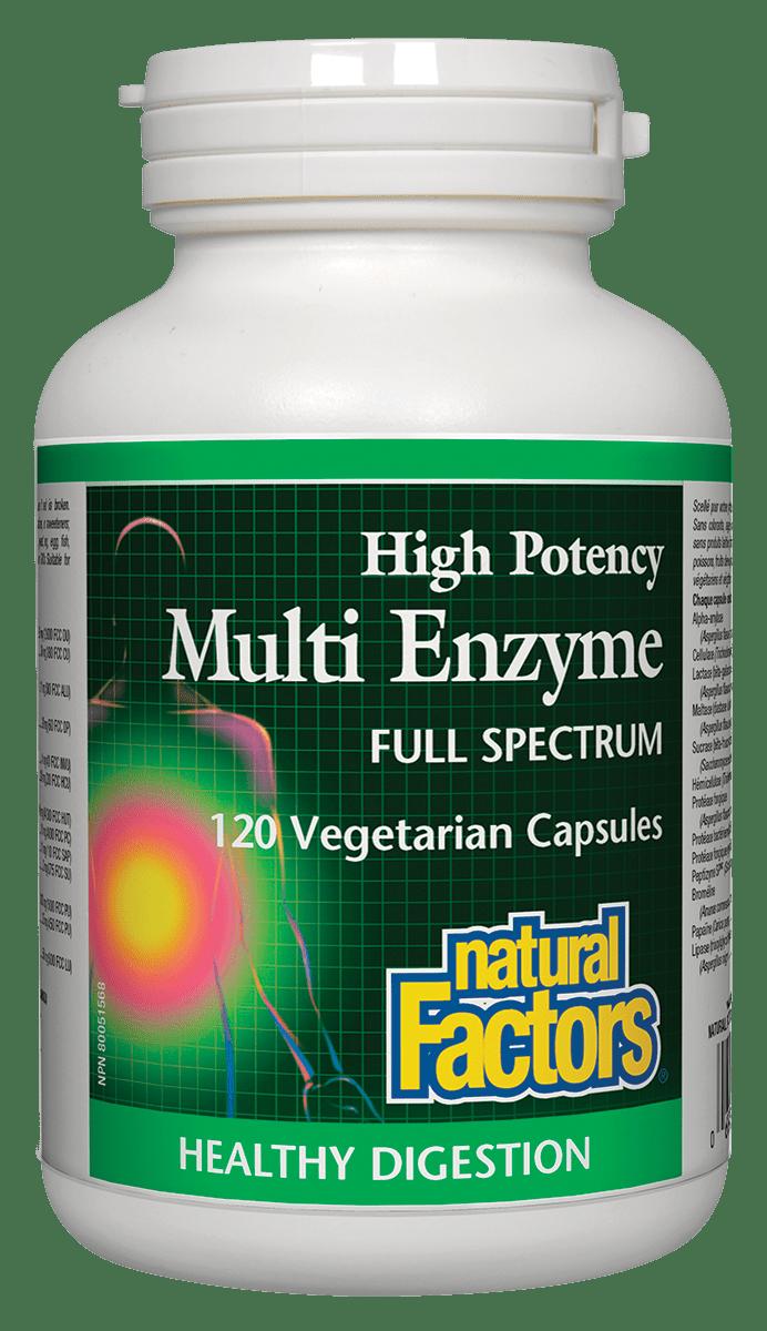 Natural Factors Natural Factors - Multi Enzyme Full Spectrum High Potency - 120 Caps