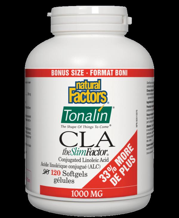 Natural Factors - Tonalin CLA - 120 SG Bonus Size