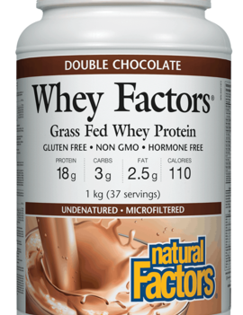 Natural Factors Natural Factors - Whey Factors - Double Chocolate - 1kg