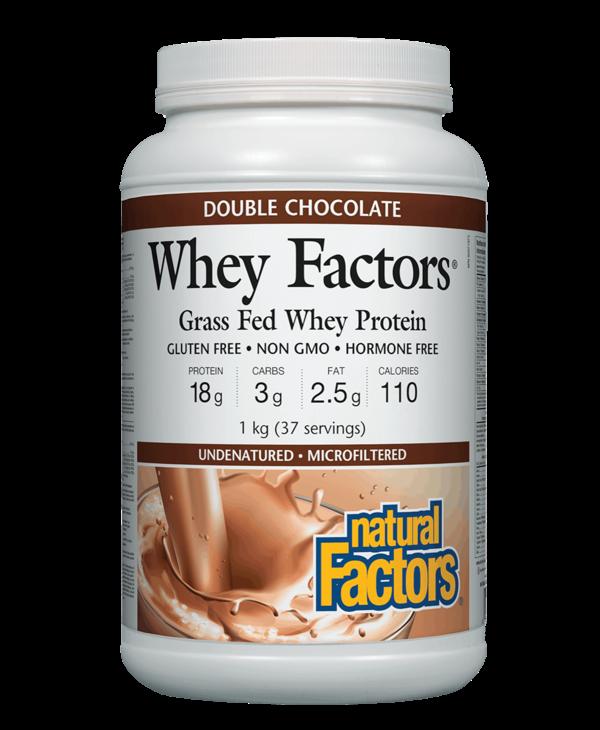Natural Factors - Whey Factors - Double Chocolate - 1kg
