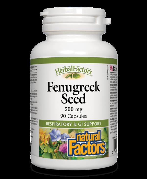 Natural Factors - Fenugreek Seed 500mg - 90 Caps