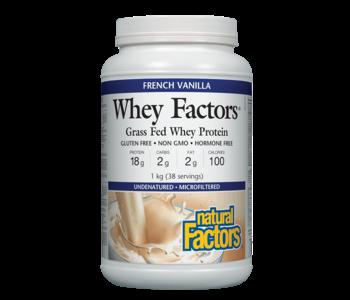 Natural Factors - Whey Factors - French Vanilla - 1kg
