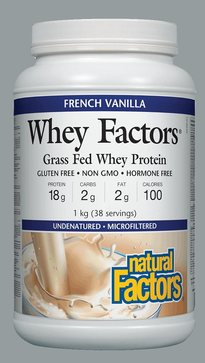 Natural Factors Natural Factors - Whey Factors - French Vanilla - 1kg