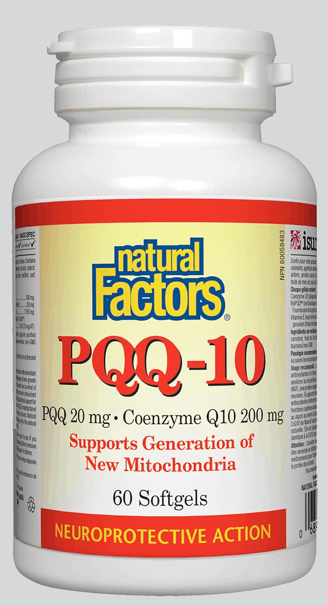Natural Factors Natural Factors - PQQ-10 - 60 SG