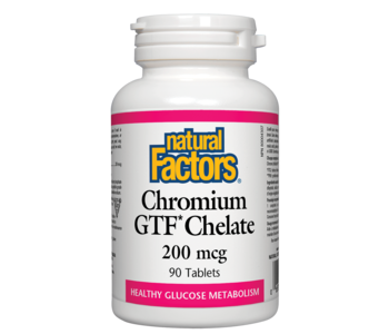 Natural Factors - Chromium GTF Chelate 200 mcg - 90 Tabs