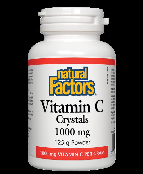 Natural Factors - Vitamin C Crystals 1000 mg - 125g