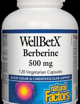 Natural Factors Natural Factors - WellBetX Berberine 500mg - 120 V-Caps