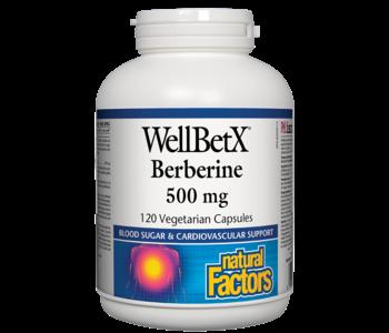 Natural Factors - WellBetX Berberine 500mg - 120 V-Caps