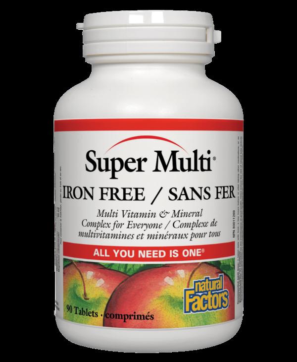 Natural Factors - Super Multi Iron Free - 90 Tabs